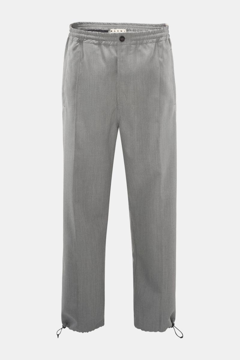 Woll-Joggpants grau