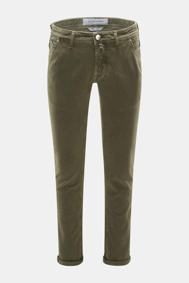 Baumwollhose 'J613 Comfort Vintage Slim Fit' oliv