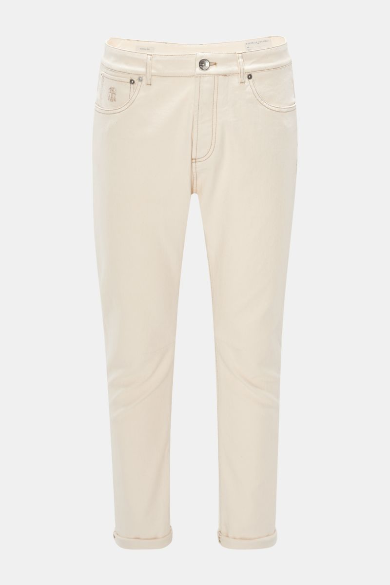 Jeans 'Leisure Fit' creme