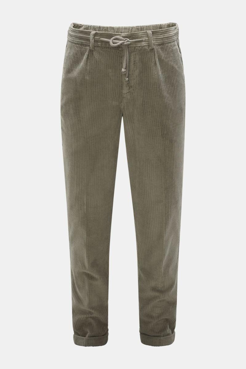Cord-Joggpants 'Smart Joggpant Fancy Cord' graugrün