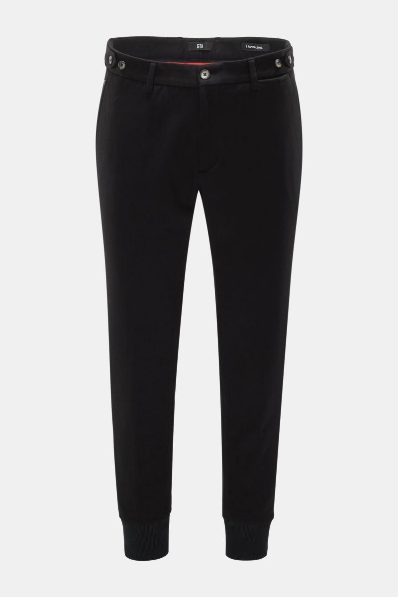 Jersey-Joggpants 'Giorgio' schwarz