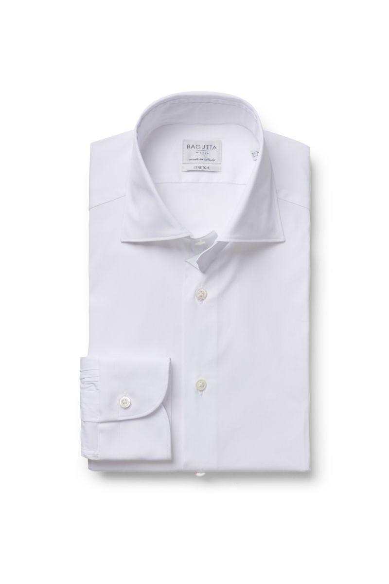 Business Hemd Haifisch-Kragen weiß