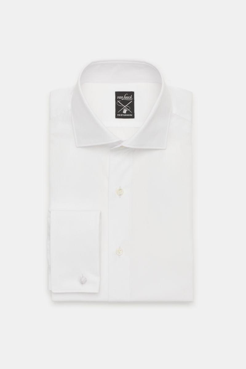 Business Hemd 'Mivara Tailor Fit' Haifisch-Kragen weiß