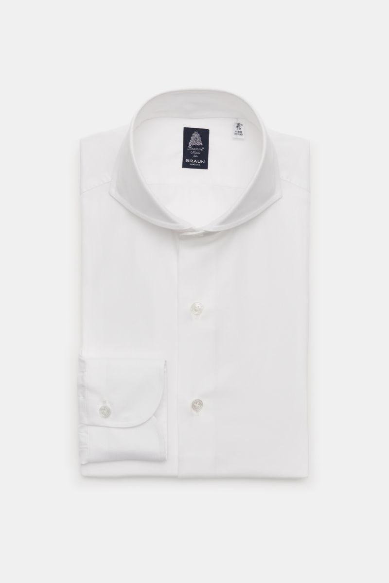 Business Hemd 'Sergio Napoli' Haifisch-Kragen weiß