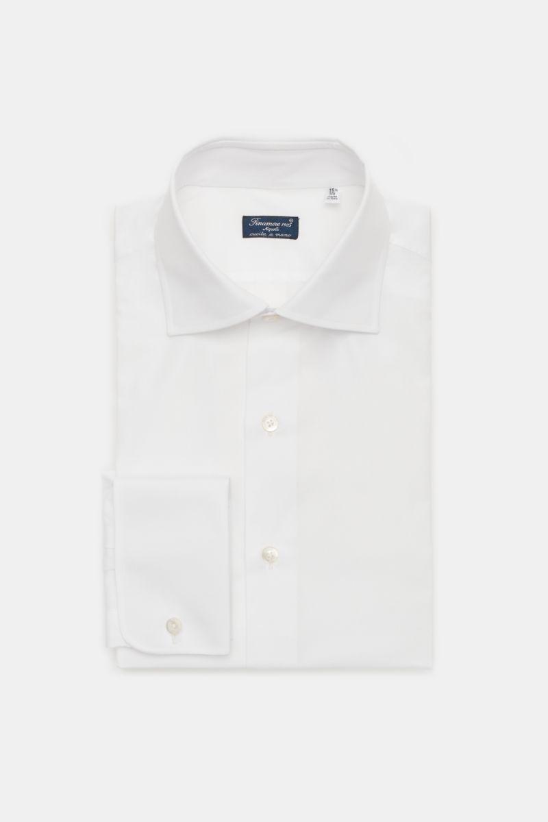 Business Hemd 'Luigi Napoli' Haifisch-Kragen weiß