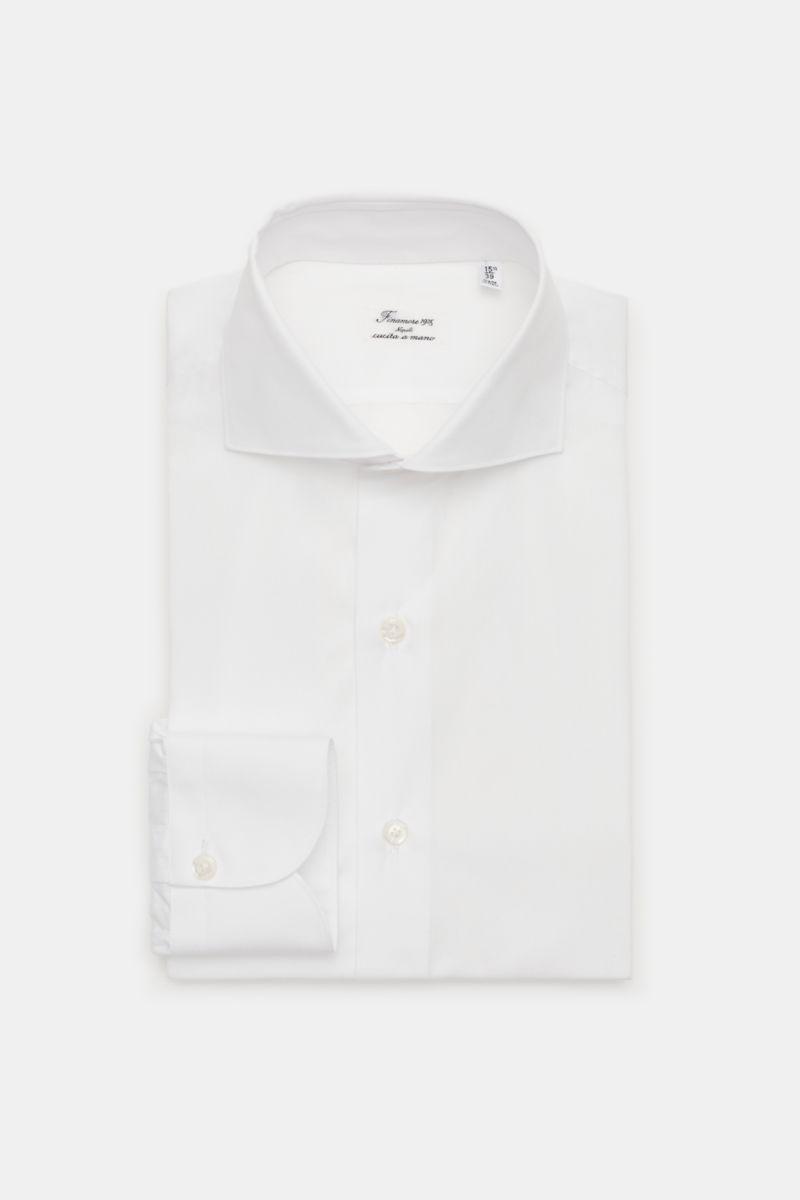 Business Hemd 'Eduardo Milano' Haifisch-Kragen weiß