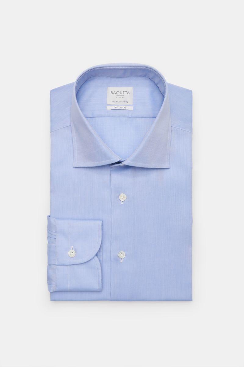 Business Hemd Kent-Kragen rauchblau