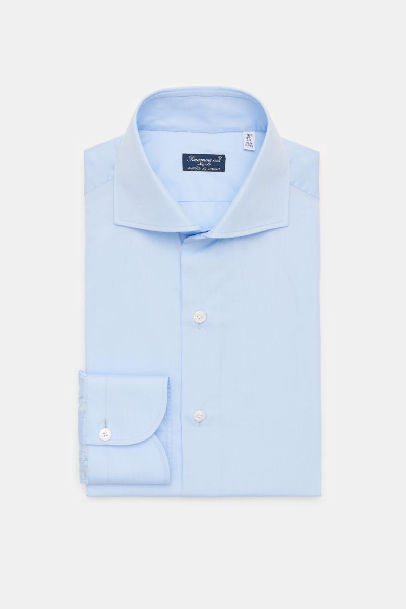 Business Hemd 'Eduardo Napoli' Haifisch-Kragen hellblau