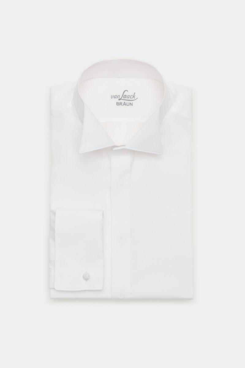Smokinghemd 'Gala Tailor Fit' Kläppchen-Kragen weiß