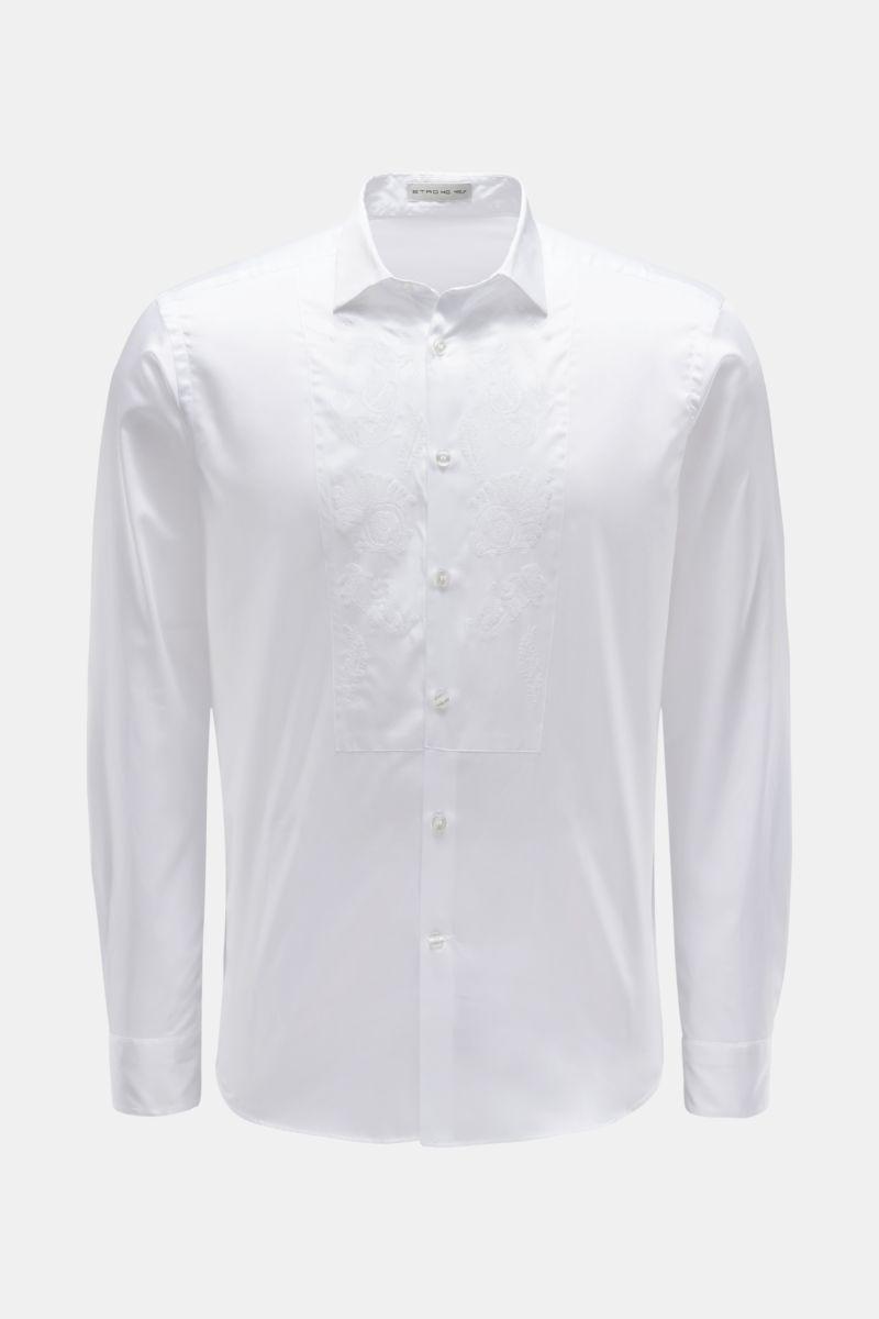 Casual Hemd schmaler Kragen weiß