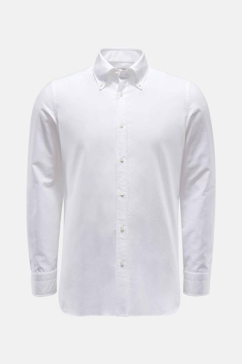 Casual Hemd 'Gable' Button-Down-Kragen weiß