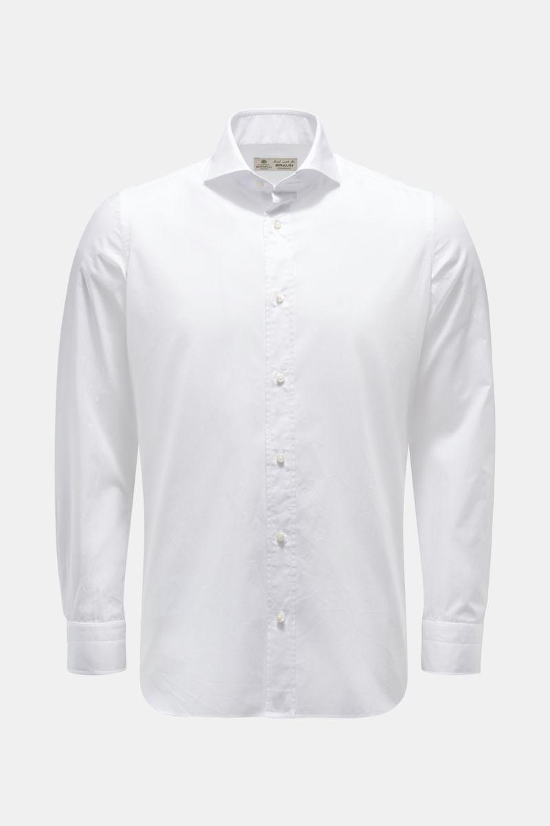 Casual Hemd 'Felice' Haifisch-Kragen weiß