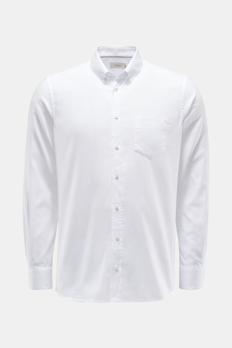 Oxford Hemd Button-Down-Kragen weiß
