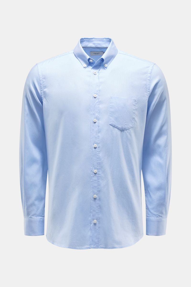 Oxford Hemd Button-Down-Kragen hellblau