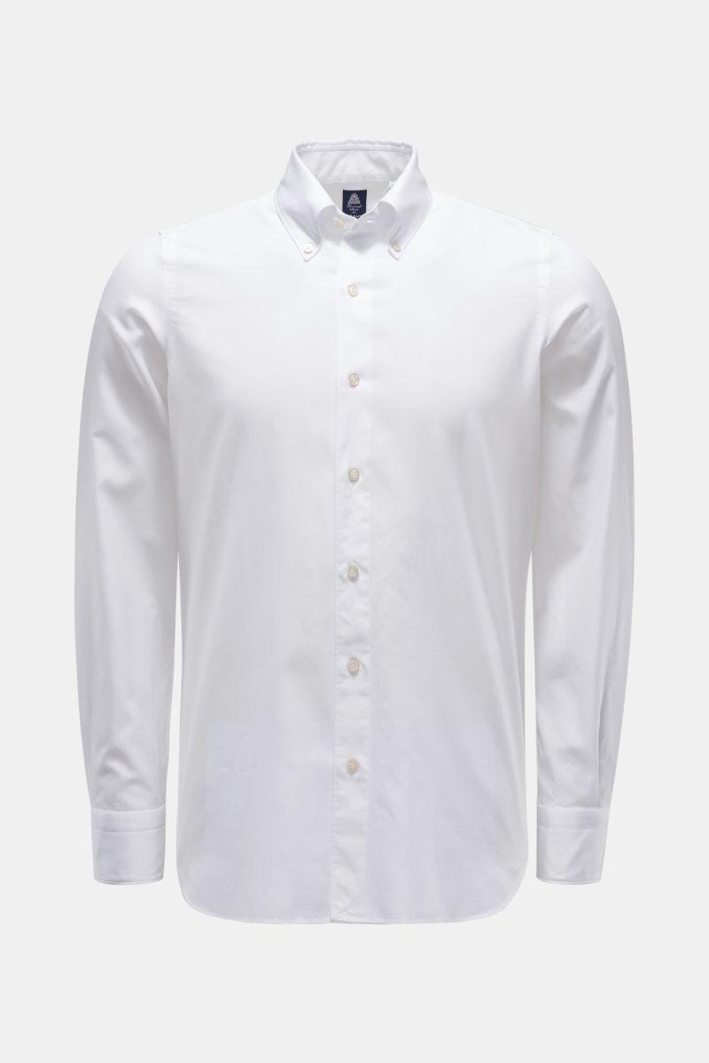 Casual Hemd 'Leonardo Gaeta' Button-Down-Kragen weiß