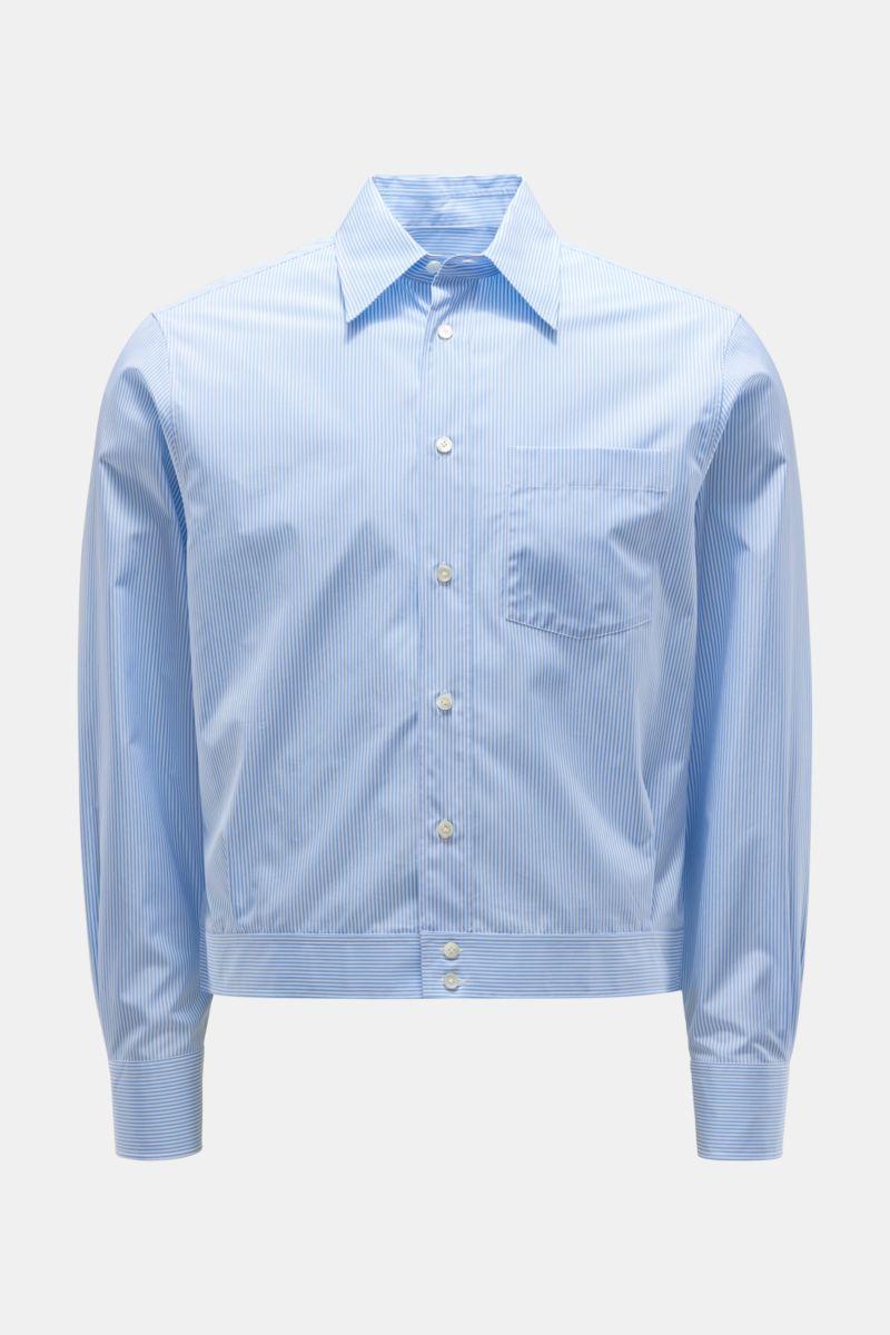 Overshirt hellblau/weiß gestreift