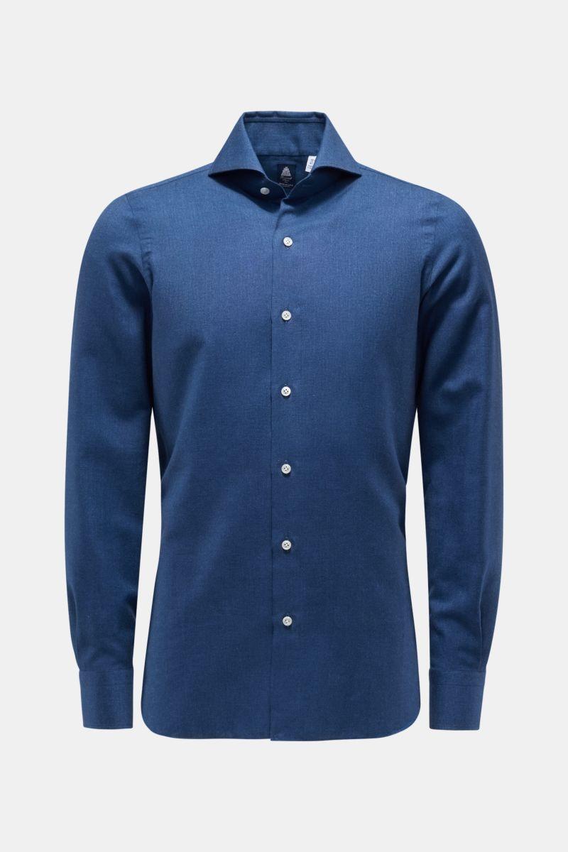 Oxfordhemd 'Sergio Napoli' Haifisch-Kragen graublau