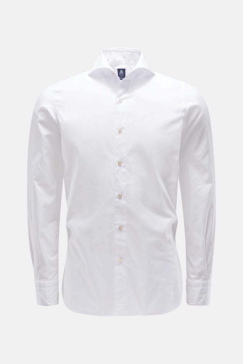 Casual Hemd 'Sergio Gaeta' Haifisch-Kragen weiß