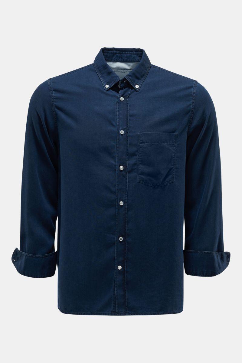 Casual Hemd 'Arsene' Button-Down-Kragen dunkelblau