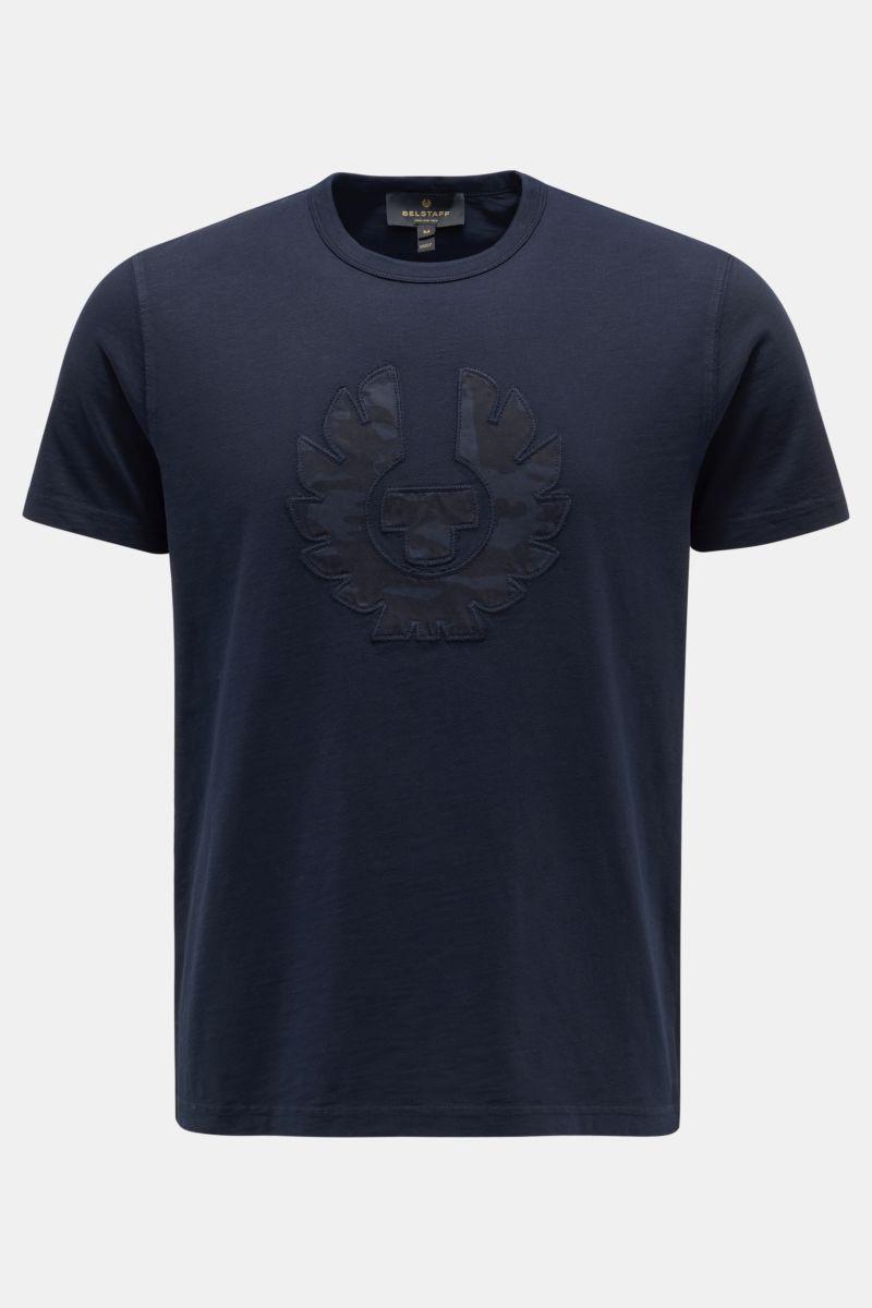 Rundhals-T-Shirt navy