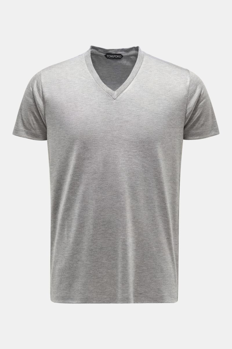 V-Neck T-Shirt grau
