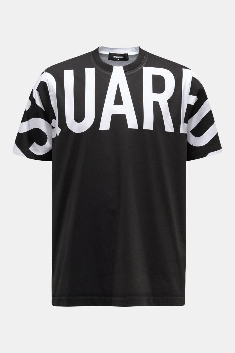 Rundhals-T-Shirt schwarz/weiß