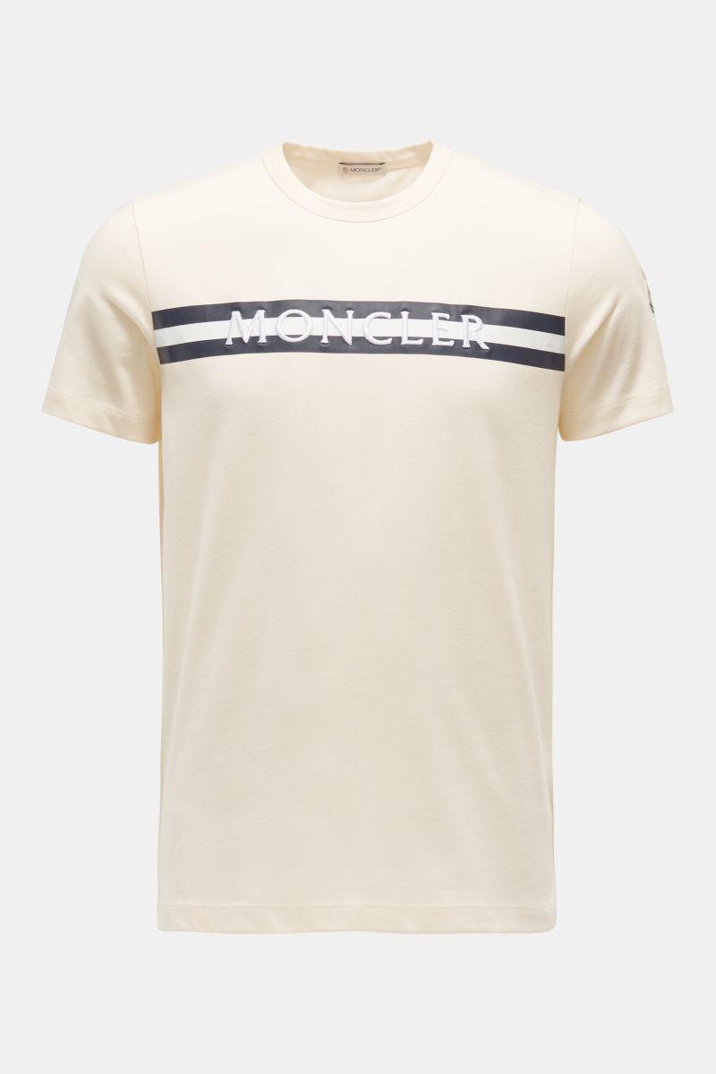 Rundhals-T-Shirt creme