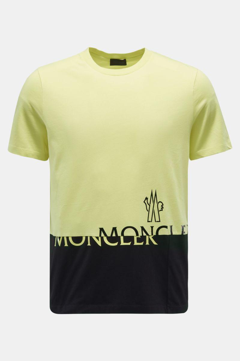 Rundhals-T-Shirt gelb/schwarz