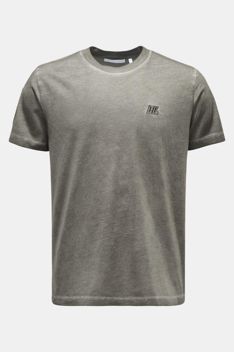 Rundhals-T-Shirt graugrün