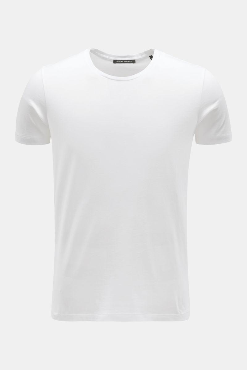 Rundhals-T-Shirt weiß