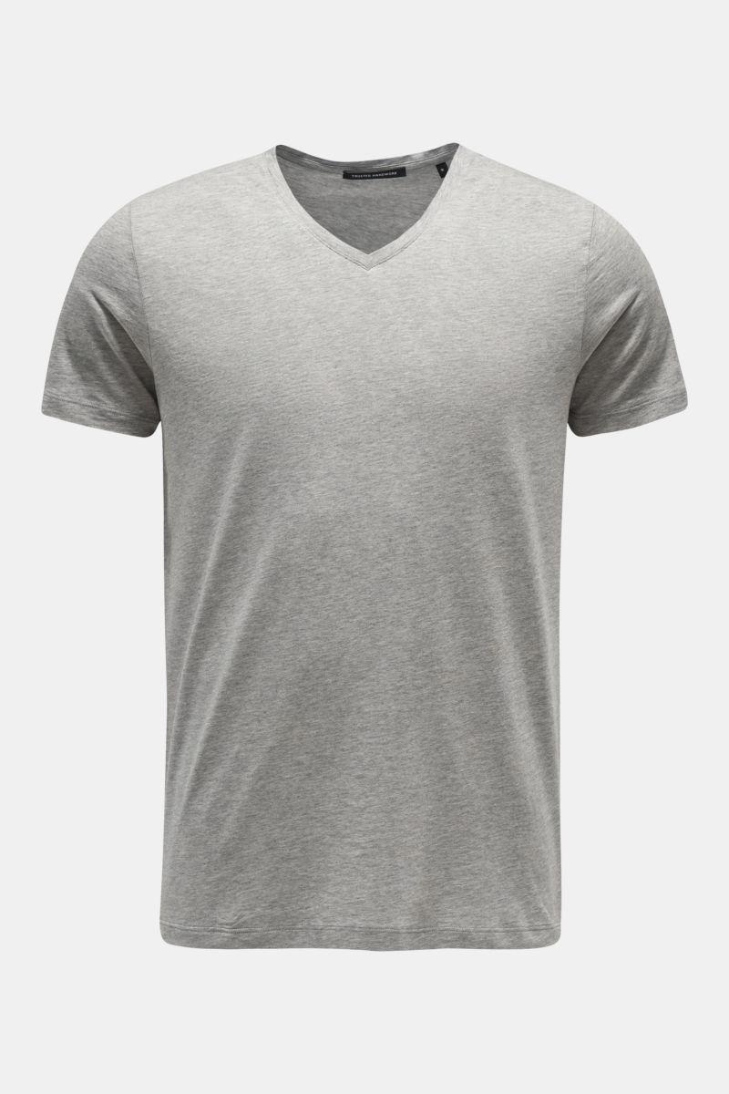 V-Neck T-Shirt grau