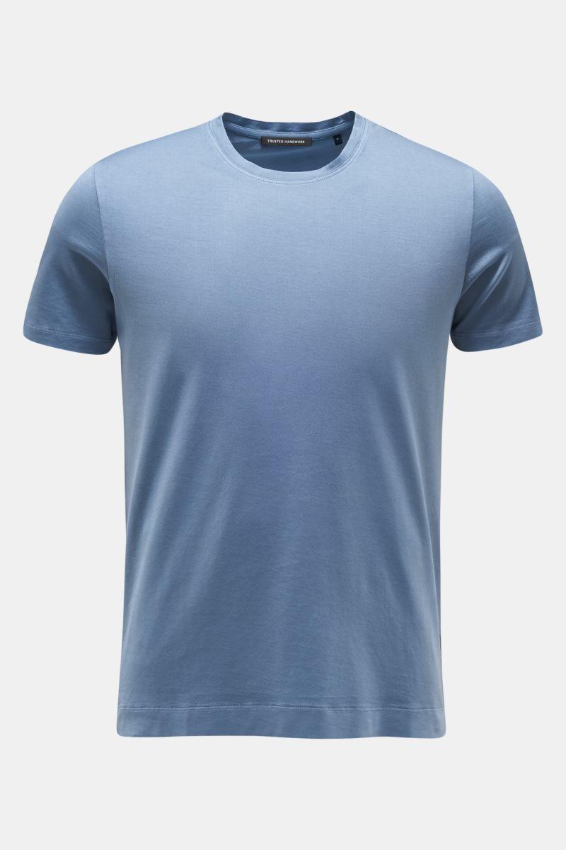 Rundhals-T-Shirt rauchblau