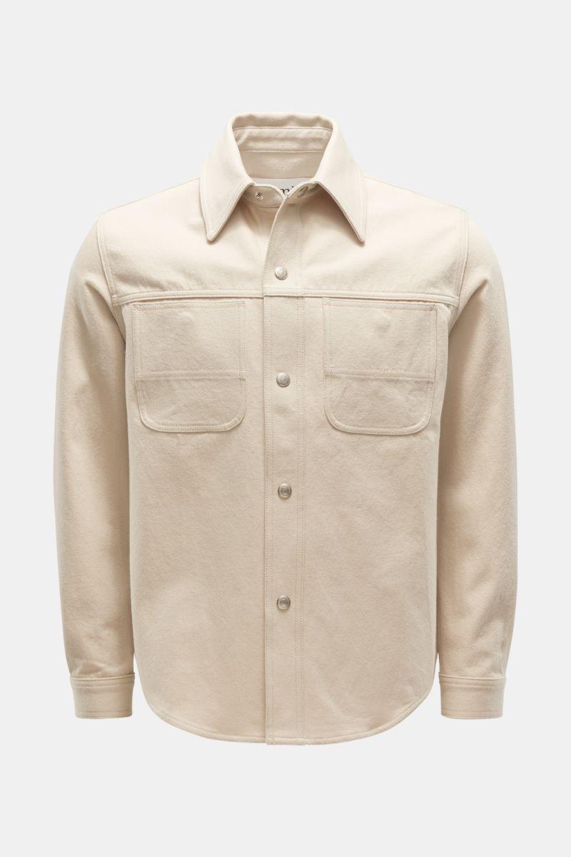 Denim-Overshirt beige