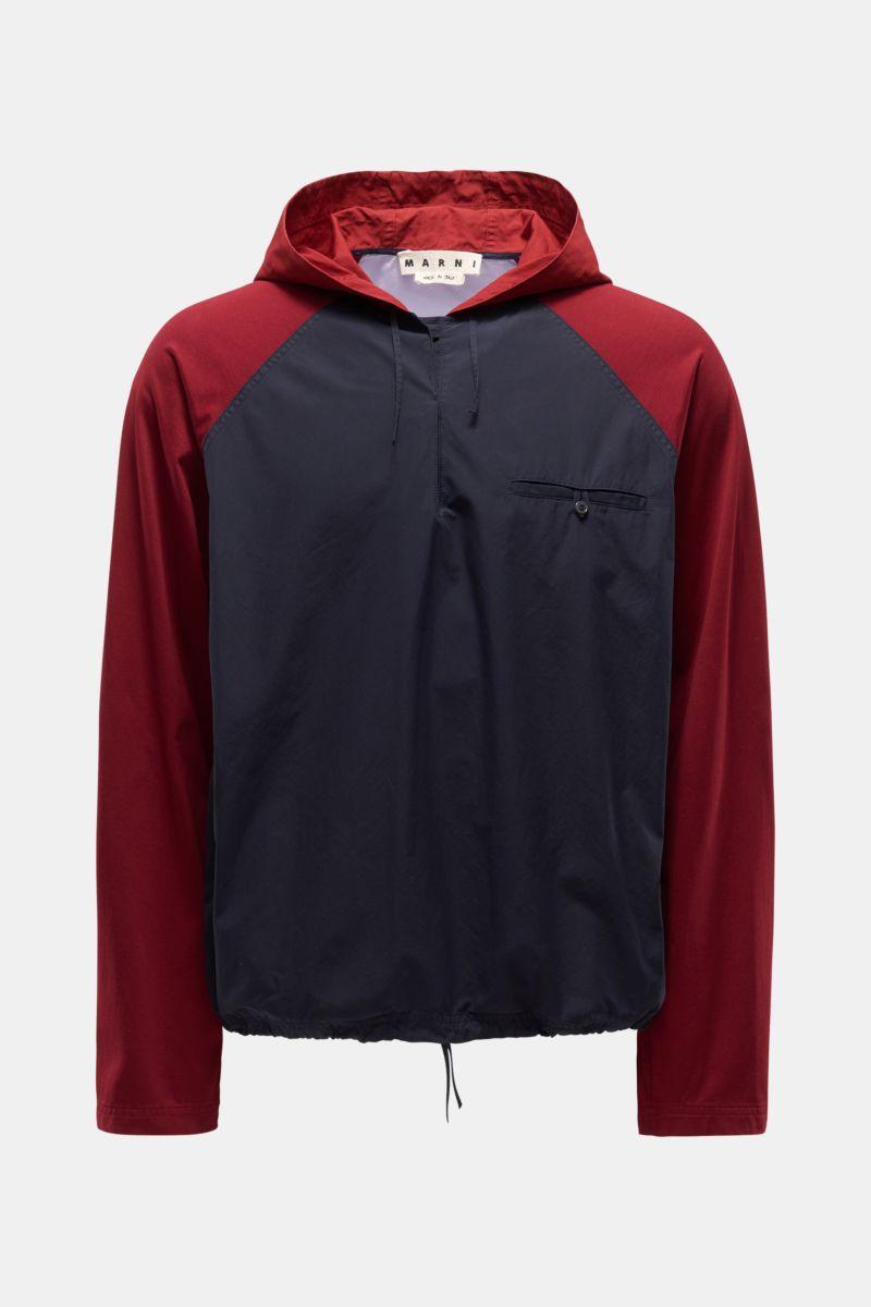 Overshirt navy/bordeaux/violett