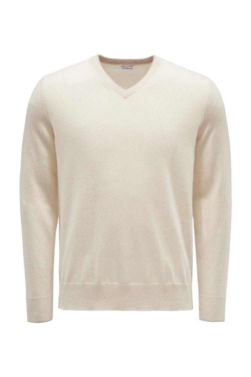 Cashmere V-Neck Pullover creme