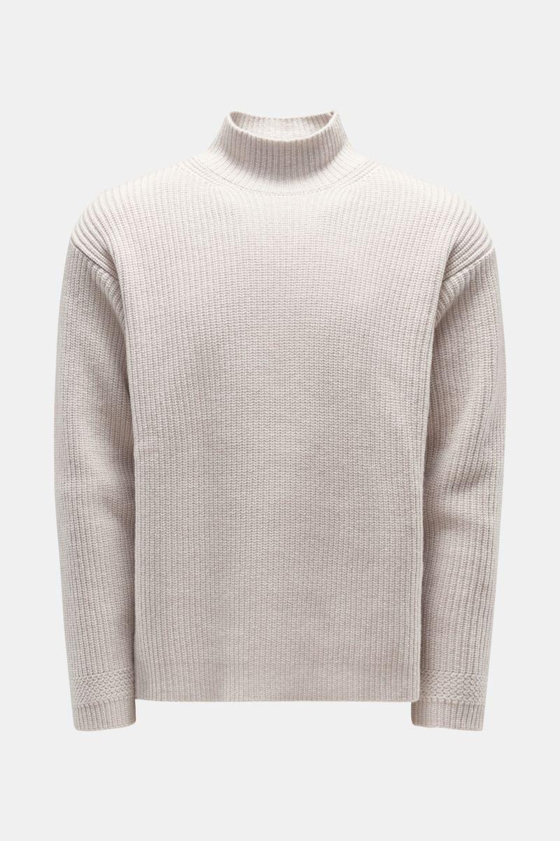 Cashmere Pullover hellgrau