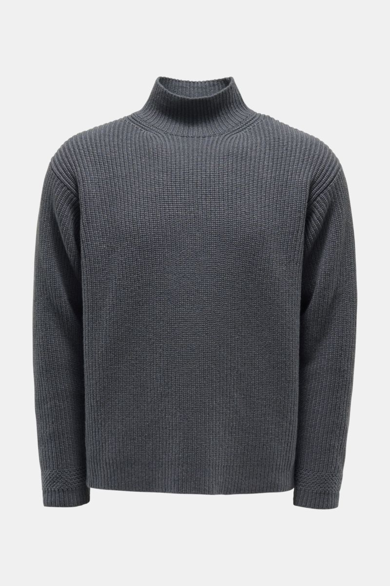 Cashmere Pullover dunkelgrau