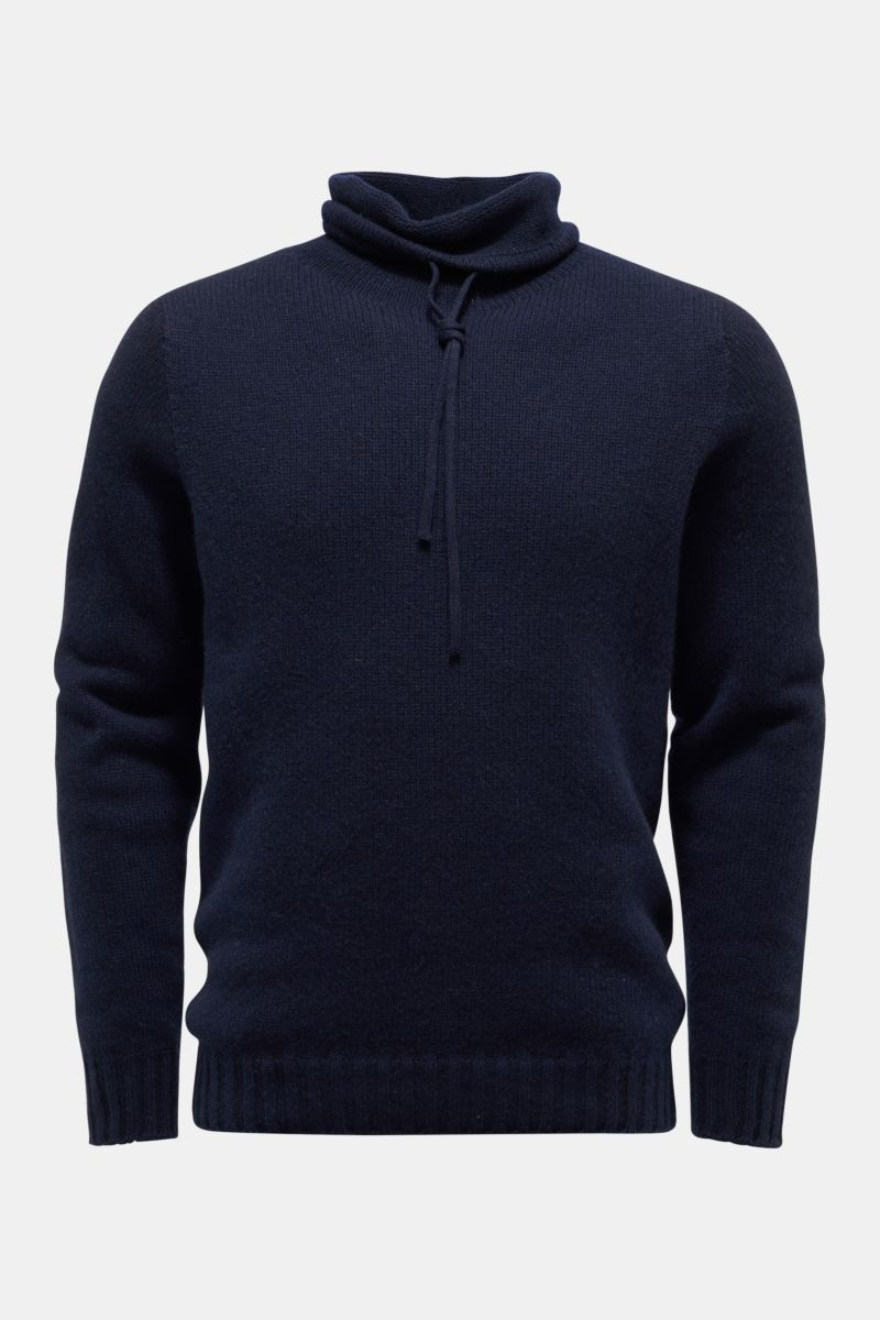 Cashmere Pullover 'The Mock' navy