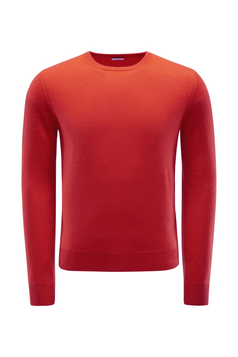 Cashmere R-Neck Pullover orange