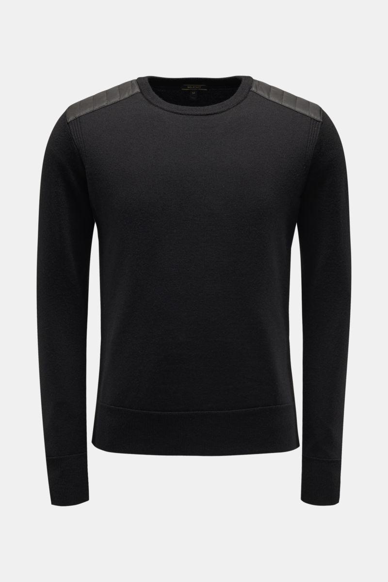 R-Neck Pullover 'Kerrigan' schwarz