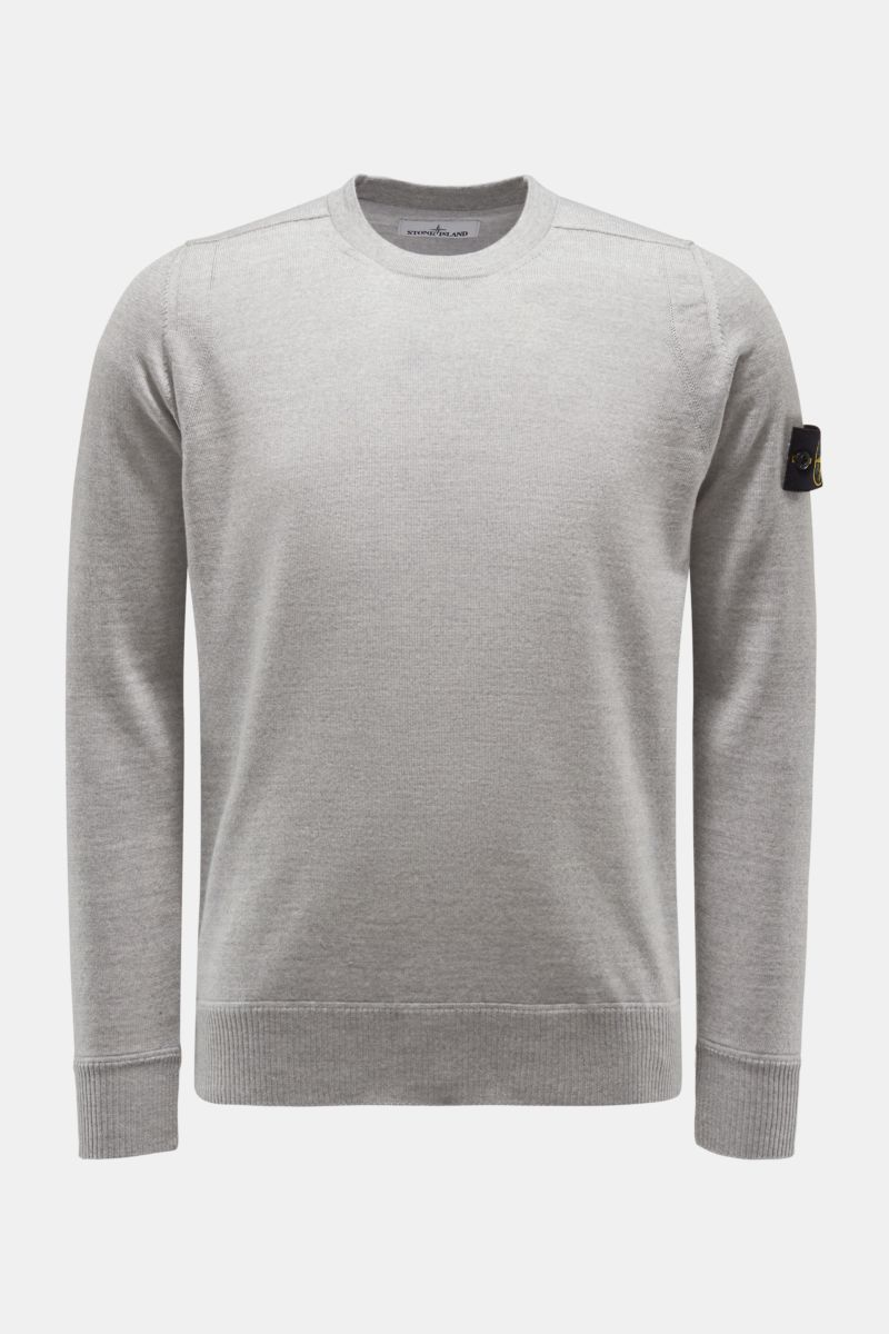 Crew neck jumper light grey