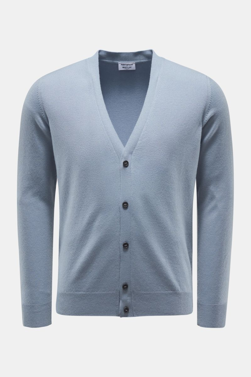 Cashmere cardigan smoky blue