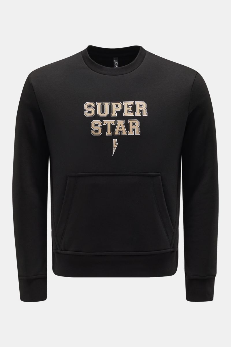 R-Neck Sweatshirt 'Super Star' schwarz