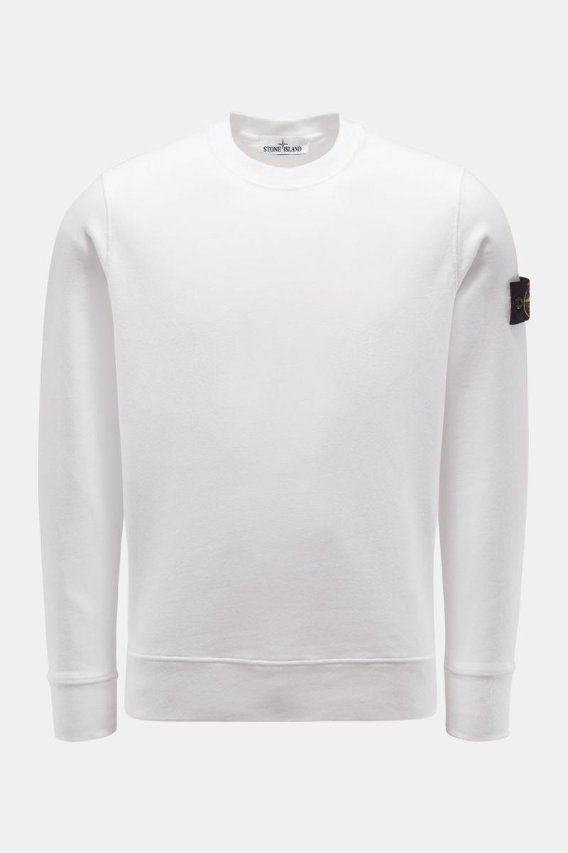 Rundhals-Sweatshirt weiß