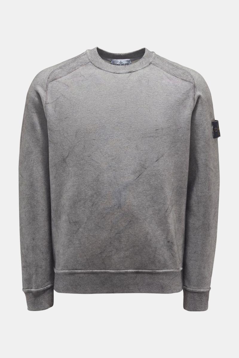 Rundhals-Sweatshirt grau