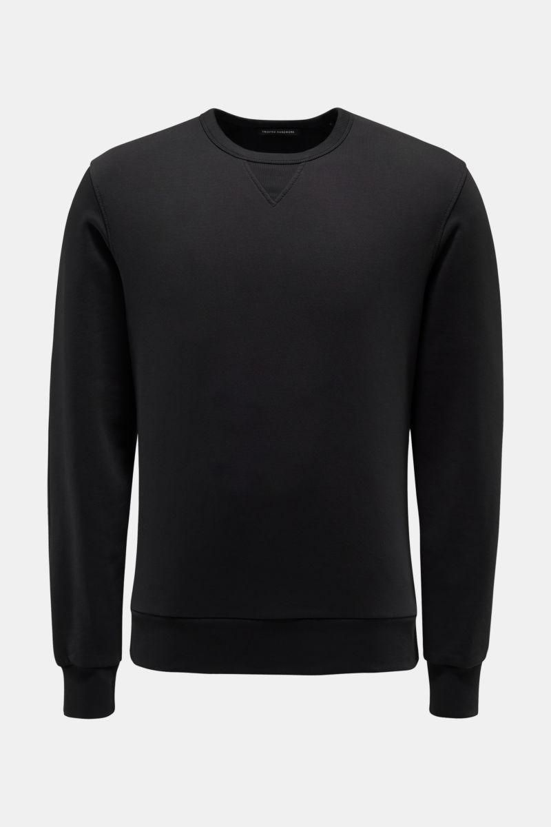 Rundhals-Sweatshirt schwarz