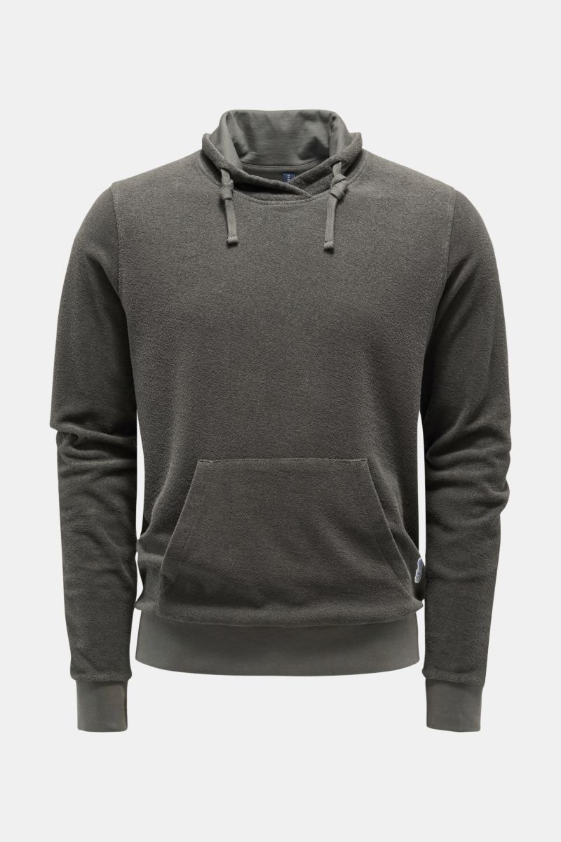 Frottee-Pullover 'Terry Turtle' grau