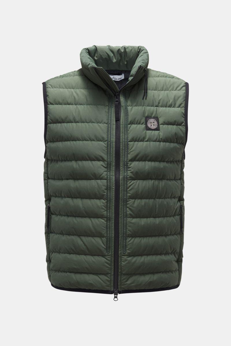 Daunenweste 'O-Cotton/R-Nylon Tela' dunkelgrün