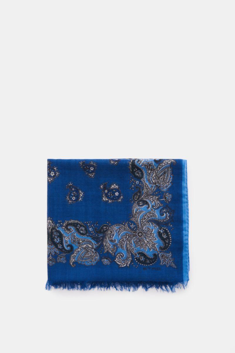 Cashmere Schal graublau gemustert