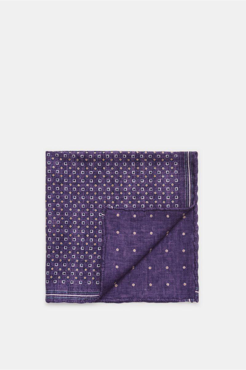 Einstecktuch violett/navy gepunktet